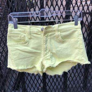 Joe's jeans lime denim shorts